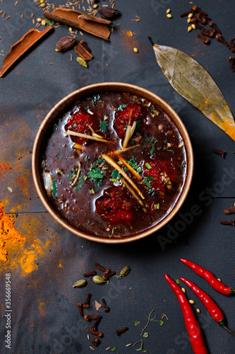 Indian food and spicy spices, stylish photos for the menu Canvas Print