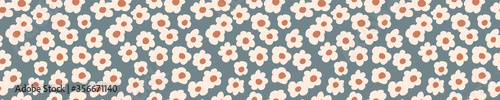 Fotografie, Tablou Seamless background floral daisy banner