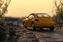 This Is A Yellow Toy Miniature...