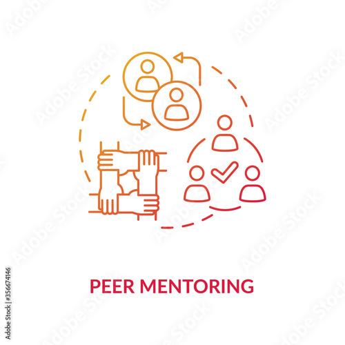 Photo Peer mentoring concept icon