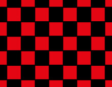 Red And Black Squares,Vector Chess Board Or Checker Board.Abstract Background