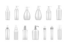Set Of White Pump Bottle Mocku...