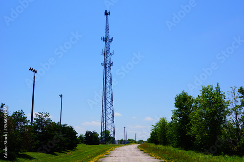 Canvas Print cell phone tower