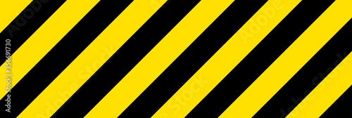 Fotografía Black and yellow line striped background. Caution tape