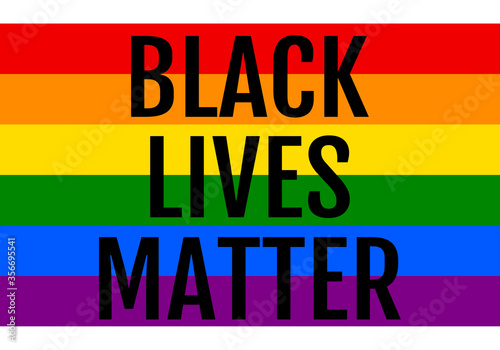 Black lives matter, rainbow flag, LGBT, pride, vector