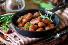 Grilled Mini Sausages Or Bange...