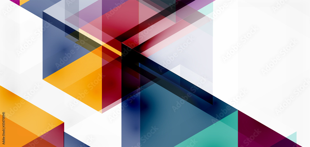 Geometric abstract background, mosaic triangle and hexagon shapes. Trendy abstract layout template for business or technology presentation, internet poster or web brochure cover, wallpaper
