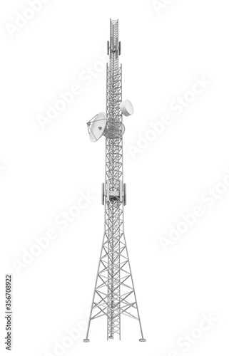 Tablou Canvas Communication Tower Isolated