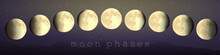Moon Phases Vector Set Of Astr...