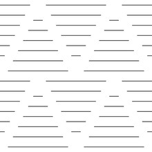 Strokes And Blocks Wallpaper. Black Narrow Lines On White Background. Seamless Surface Pattern Design With Linear Ornament. Broken Lines Motif. Digital Paper With Dashed Stripes. Vector Art.