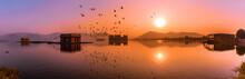 Panoramic View During Sunrise ...