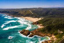 Aerial View Of Noetzie Beach C...