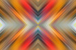 Leinwandbild Motiv Glowing cross in perspective. Abstract geometric background. Pattern of luminous lines. Stylish symmetrical futuristic texture.