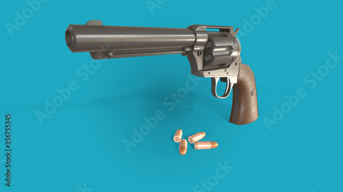 Fototapeta 3d illustration gun