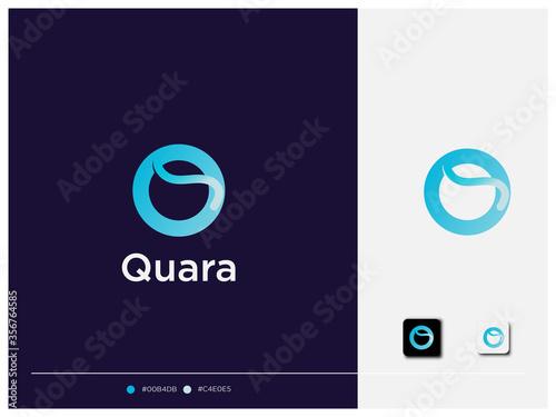 Fotografía Letter Q logo design, branding design