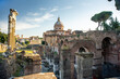 Forum Romanum view from the Capitoline Hill in Italy, Rome. Travel world