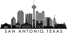 SAN ANTONIO City Texas Skyline...