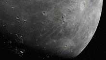 Realistic Moon In Space, Moon ...