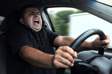 Angry Man Driver Dangerously D...