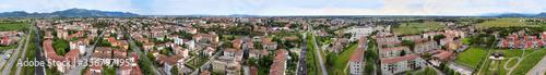 Fototapeta Amazing aerial view of Pisa, famous town of Tuscany obraz na płótnie