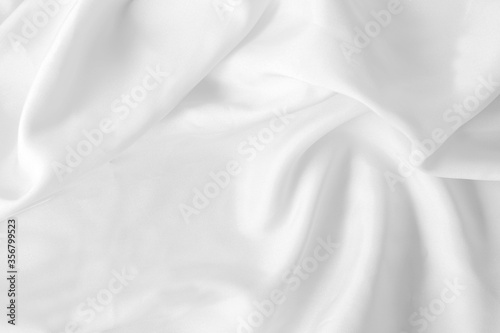 white  fabric texture background,crumpled fabric background with soft waves Fototapet