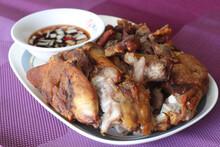 A Filipino Dish Called Crispy Pata Or Pork Hock.