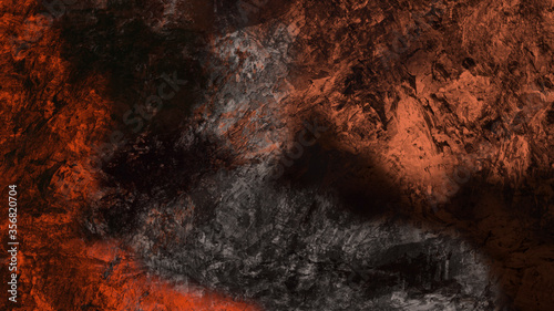 Fototapeta Abstract digital painting of geologic mountain illustration background obraz