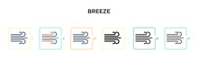 Breeze Vector Icon In 6 Differ...