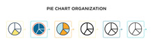 Pie Chart Organization Vector ...