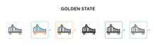 Golden State Vector Icon In 6 ...