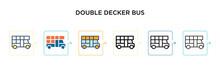 Double Decker Bus Vector Icon ...