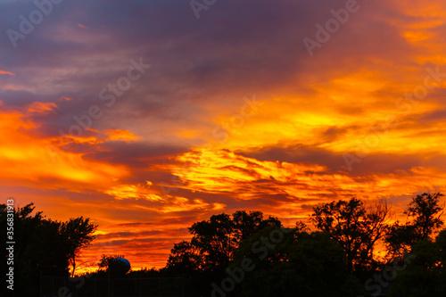 Beautiful Illuminated Clouds at Sunset