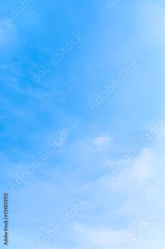 Obraz Vertical of tranquil blue sky with smooth cloud - fototapety do salonu
