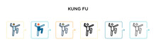 Kung Fu Vector Icon In 6 Diffe...