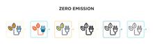 Zero Emission Vector Icon In 6...