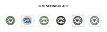 Site Seeing Place Vector Icon ...