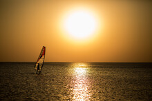 Windsurf Silhouettes Sunst Tim...