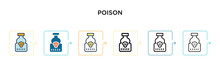 Poison Vector Icon In 6 Differ...