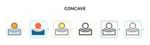 Concave Vector Icon In 6 Diffe...