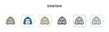 Einstein Vector Icon In 6 Diff...
