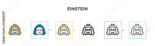 Photographie Einstein vector icon in 6 different modern styles