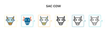 Sacred Cow Vector Icon In 6 Di...