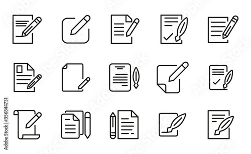 Fotomural Contract related vector icon set