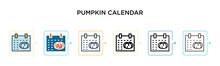 Pumpkin Calendar Vector Icon I...