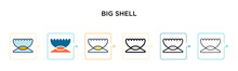 Big Shell Vector Icon In 6 Dif...