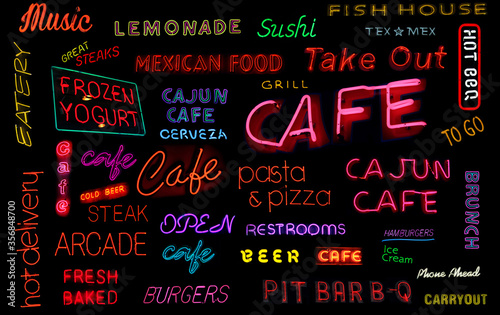 Restaurant and Cafe Neon Sign Collection