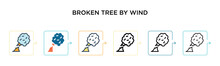 Broken Tree By Wind Vector Ico...