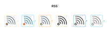 Rss Vector Icon In 6 Different...