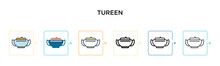 Tureen Vector Icon In 6 Differ...