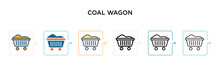 Coal Wagon Vector Icon In 6 Di...